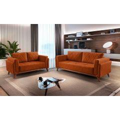 Sofa-2-Lugares-Ocre-em-Veludo-157m-Eileen---Ambiente