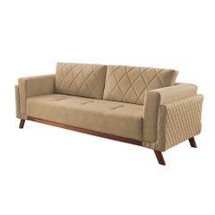 Sofa-3-Lugares-Bege-em-Veludo-207m-Eileen