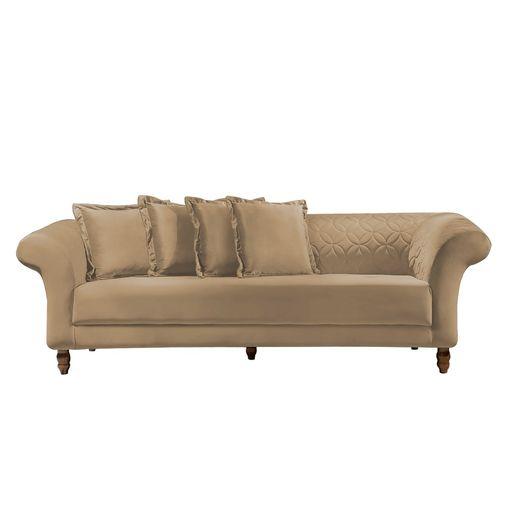 Sofa-3-Lugares-Bege-em-Veludo-240m-Rolnik
