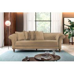 Sofa-3-Lugares-Bege-em-Veludo-240m-Rolnik---Ambiente