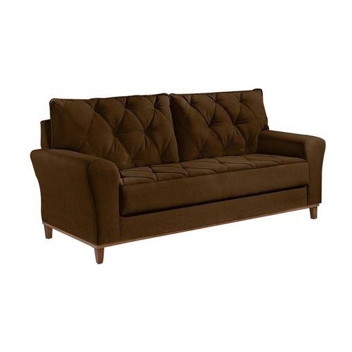 Sofa-3-Lugares-Marrom-em-Veludo-204m-Deniot