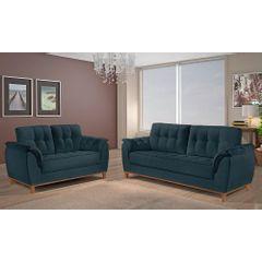 Sofa-2-Lugares-Azul-em-Veludo-157m-Boeri---Ambiente