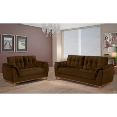 Sofa-2-Lugares-Marrom-em-Veludo-157m-Boeri---Ambiente