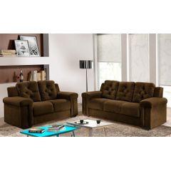 Sofa-3-Lugares-Marrom-em-Veludo-211m-Pelli---Ambiente