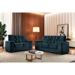 Sofa-2-Lugares-Azul-em-Veludo-150m-Ieoh---Ambiente