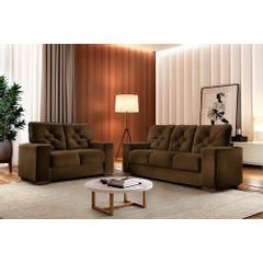 Sofa-2-Lugares-Marrom-em-Veludo-150m-Ieoh---Ambiente