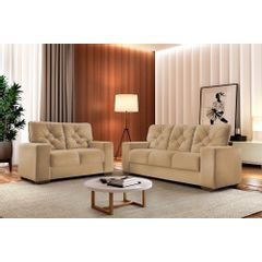 Sofa-2-Lugares-Bege-em-Veludo-150m-Ieoh---Ambiente