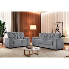 Sofa-2-Lugares-Cinza-em-Veludo-150m-Ieoh---Ambiente