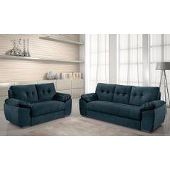 Sofa-2-Lugares-Azul-em-Veludo-162m-Mies---Ambiente