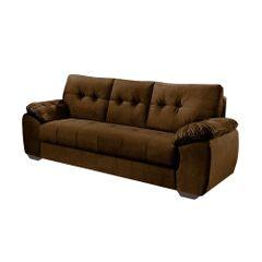 Sofa-3-Lugares-Marrom-em-Veludo-212m-Mies