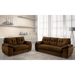 Sofa-3-Lugares-Marrom-em-Veludo-212m-Mies---Ambiente