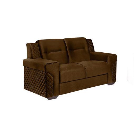 Sofa-2-Lugares-Marrom-em-Veludo-150m-Fuller