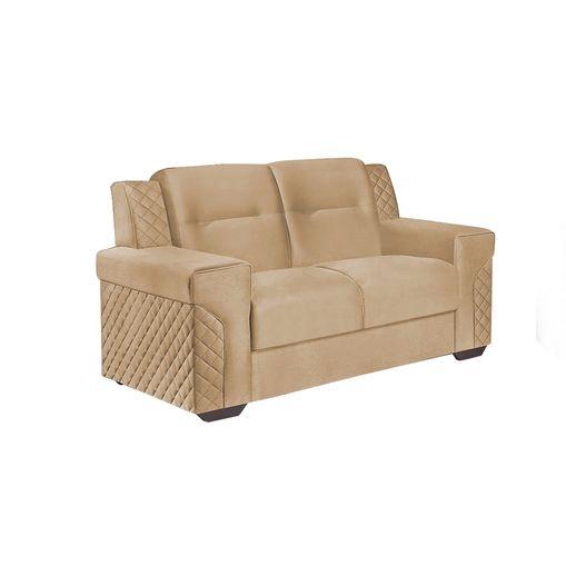 Sofa-2-Lugares-Bege-em-Veludo-150m-Fuller