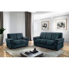 Sofa-2-Lugares-Azul-em-Veludo-147m-Ohtake---Ambiente