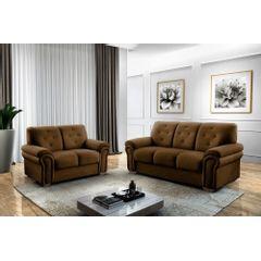 Sofa-2-Lugares-Marrom-em-Veludo-147m-Ohtake---Ambiente