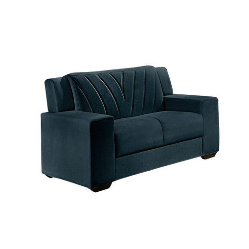 Sofa-2-Lugares-Azul-em-Veludo-146m-Gehry