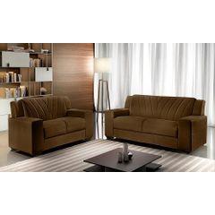 Sofa-2-Lugares-Marrom-em-Veludo-146m-Gehry---Ambiente
