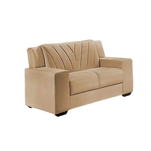 Sofa-2-Lugares-Bege-em-Veludo-146m-Gehry