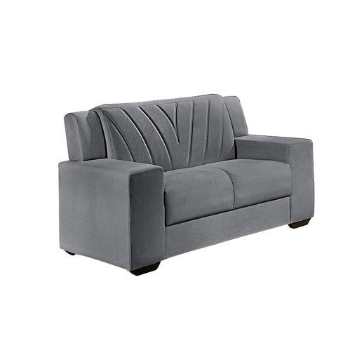 Sofa-2-Lugares-Cinza-em-Veludo-146m-Gehry