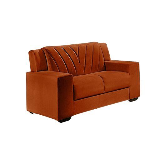 Sofa-2-Lugares-Ocre-em-Veludo-146m-Gehry