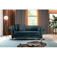 Sofa-2-Lugares-Azul-em-Veludo-180m-Rolnik---Ambiente