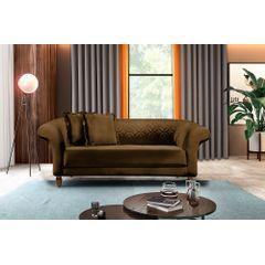 Sofa-2-Lugares-Marrom-em-Veludo-180m-Rolnik---Ambiente