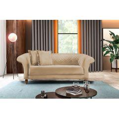 Sofa-2-Lugares-Bege-em-Veludo-180m-Rolnik---Ambiente