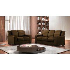 Sofa-2-Lugares-Marrom-em-Veludo-148m-Siza---Ambiente