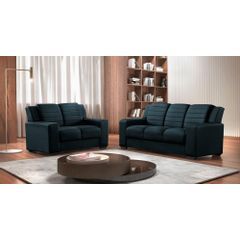 Sofa-3-Lugares-Azul-em-Veludo-198m-Siza---Ambiente