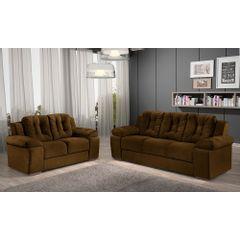 Sofa-2-Lugares-Marrom-em-Veludo-157m-Zumthor---Ambiente