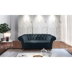 Sofa-2-Lugares-Azul-em-Veludo-184m-Zaha---Ambiente