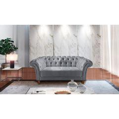 Sofa-2-Lugares-Cinza-em-Veludo-184m-Zaha---Ambiente