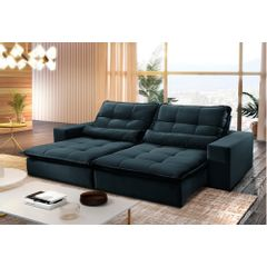 Sofa-Retratil-e-Reclinavel-3-Lugares-Azul-210m-Nouvel---Ambiente