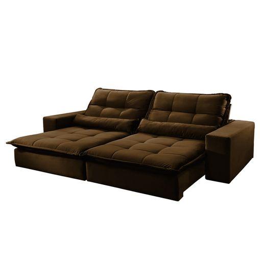 Sofa-Retratil-e-Reclinavel-3-Lugares-Marrom-210m-Nouvel
