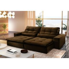 Sofa-Retratil-e-Reclinavel-3-Lugares-Marrom-230m-Nouvel---Ambiente