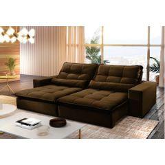 Sofa-Retratil-e-Reclinavel-4-Lugares-Marrom-270m-Nouvel---Ambiente