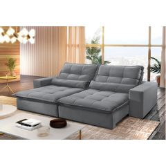 Sofa-Retratil-e-Reclinavel-4-Lugares-Cinza-290m-Nouvel---Ambiente