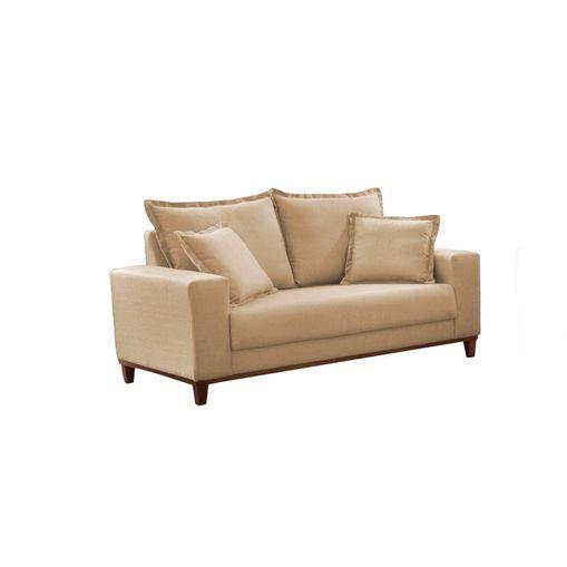 Sofa-2-Lugares-Bege-em-Veludo-156m-Diller