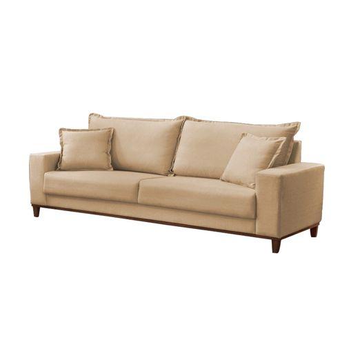 Sofa-3-Lugares-Bege-em-Veludo-216m-Diller