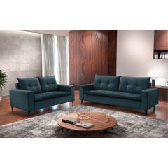 Sofa-2-Lugares-Azul-em-Veludo-156m-Meier---Ambiente