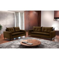 Sofa-2-Lugares-Marrom-em-Veludo-156m-Meier---Ambiente