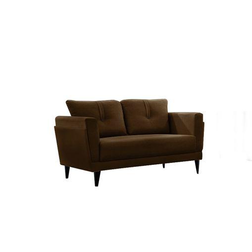 Sofa-2-Lugares-Marrom-em-Veludo-139m-Bardi