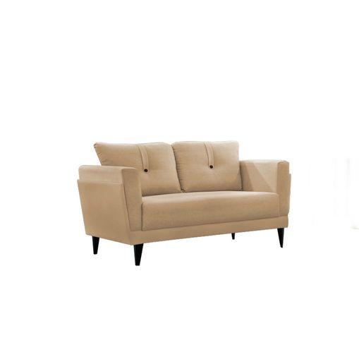 Sofa-2-Lugares-Bege-em-Veludo-139m-Bardi