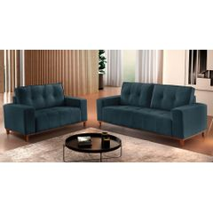 Sofa-2-Lugares-Azul-em-Veludo-140m-Duany---Ambiente