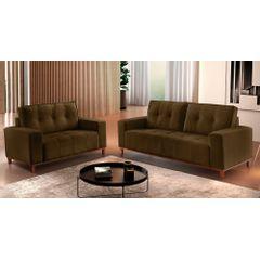 Sofa-2-Lugares-Marrom-em-Veludo-140m-Duany---Ambiente