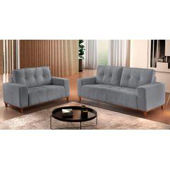 Sofa-2-Lugares-Cinza-em-Veludo-140m-Duany---Ambiente