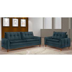 Sofa-2-Lugares-Azul-em-Veludo-122m-Kliass---Ambiente