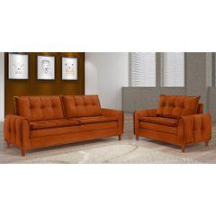 Sofa-2-Lugares-Ocre-em-Veludo-122m-Kliass---Ambiente