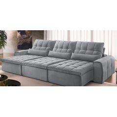 Sofa-Retratil-e-Reclinavel-6-Lugares-Cinza-380m-Bayonne---Ambiente