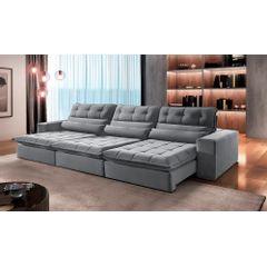 Sofa-Retratil-e-Reclinavel-5-Lugares-Cinza-320m-Renzo---Ambiente